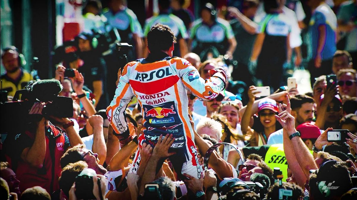 Marc Marquez Celebrating