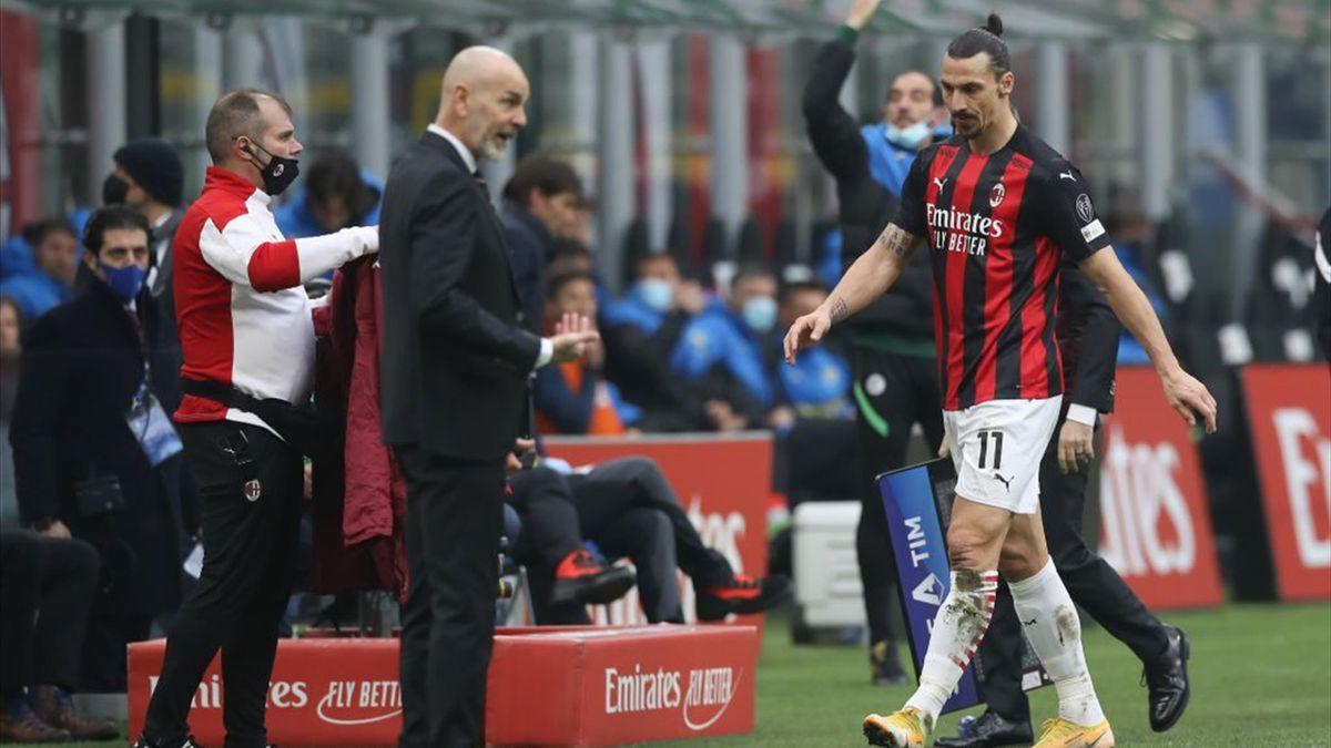 Stefano Pioli, Zlatan Ibrahimovic - Milan-Inter - Serie A 2020/2021 - Getty Images