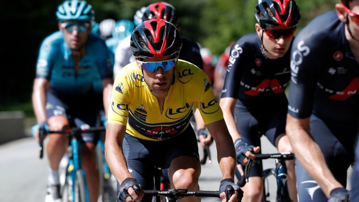Richie Porte im Gelben Trikot beim Critérium du Dauphine