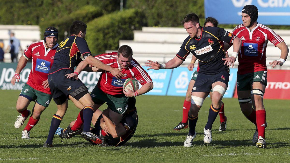 Partido entre Portugal y España en el Campeonato de Europa de rugby (Seis Naciones B)