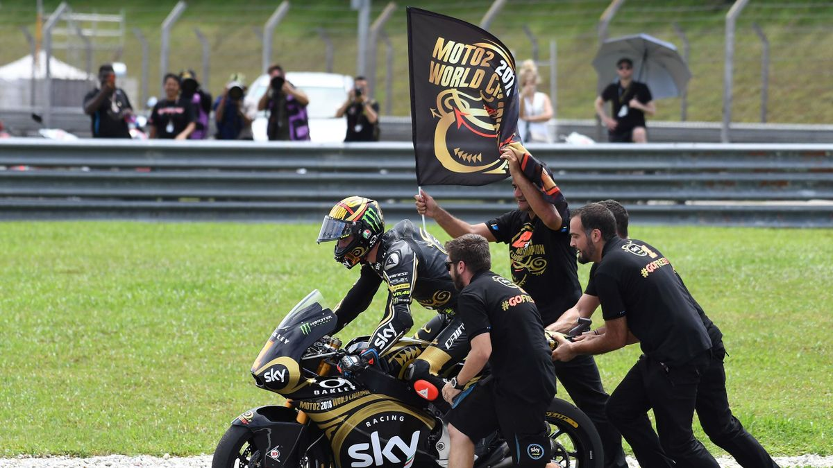 """Francesco """"Pecco"""" Bagnaia campione del Mondo di Moto2"""
