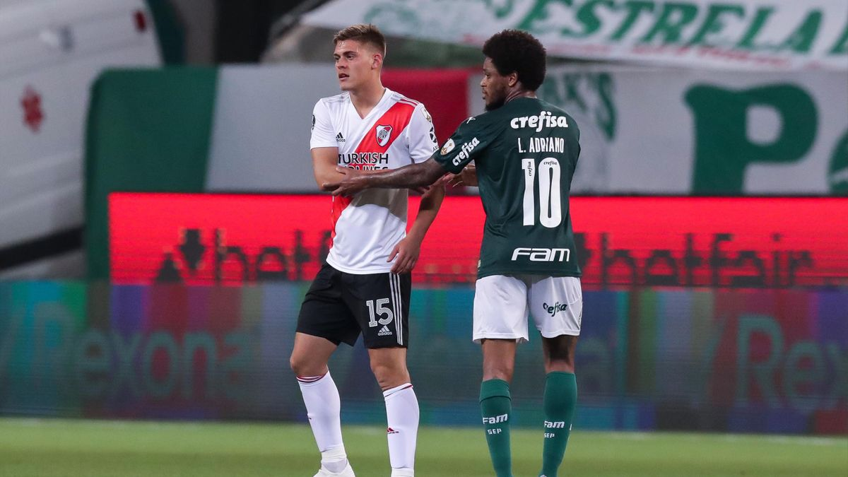 Federico Girotti (River Plate) et Luiz Adriano (Palmeiras) en demi-finale de la Copa Libertadores 2020