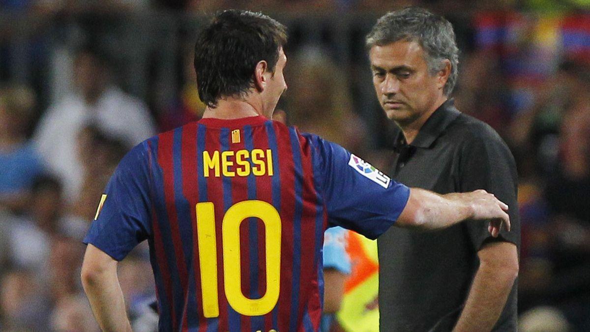 Leo Messi, José Mourinho, Barcellona, Foto LaPresse