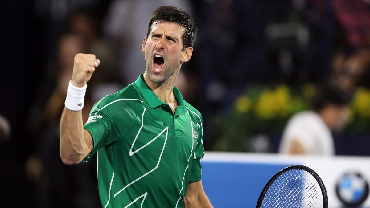 Novak Djokovic à Dubaï en 2020