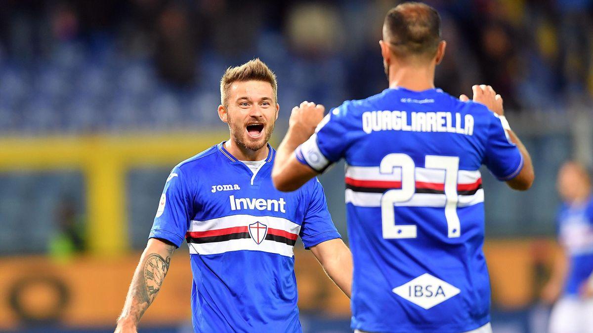 Linetty-Defrel: la Sampdoria ribalta 2-1 l'iniziale vantaggio della SPAL firmato Paloschi - Eurosport