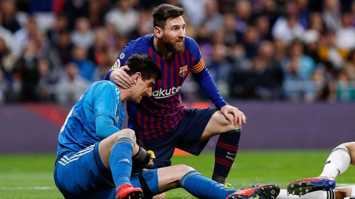 Courtois şi Messi