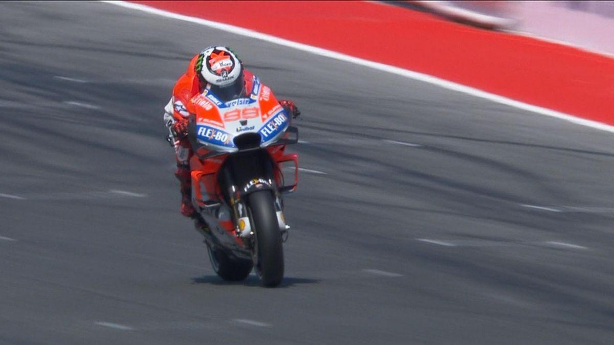 moto GP Q2: Lorenzo's best lap