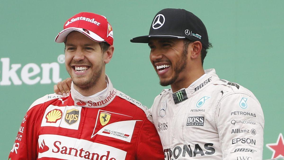 Sebastian Vettel (Ferrari), Lewis Hamilton (Mercedes) - GP of Canada 2016