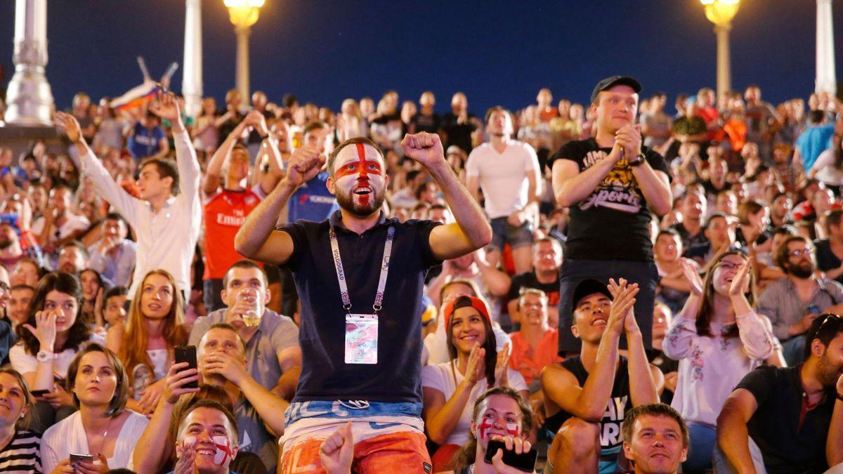 Болельщики сборной Англии на матче ЧМ-2018 Тунис – Англия (Волгоград)