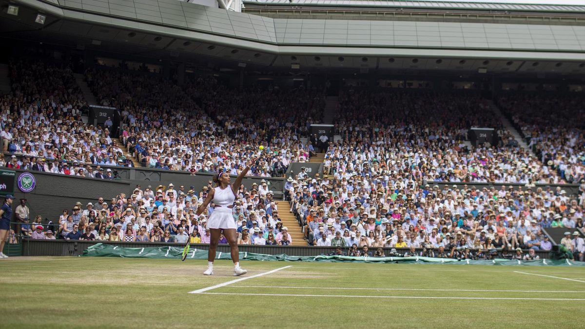 Serena Williams in action during the 2019 Wimbledon women's final