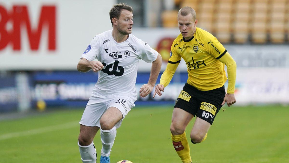Thor Kristian Økland i duell med Daniel Gustafsson