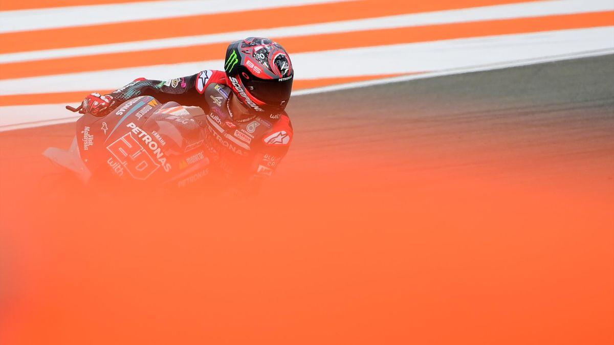 Fabio Quartararo (Yamaha Petronas SRT) lors des essais libres du Grand Prix de Valence, le 13 novembre 2020