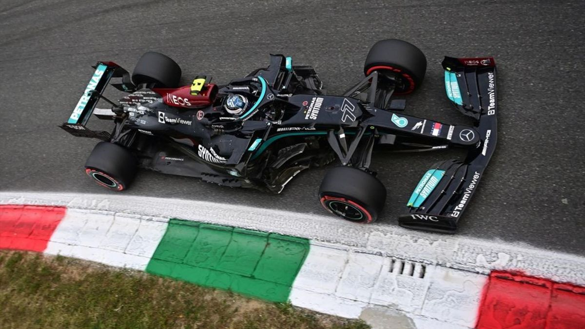 Valtteri Bottas nelle qualifiche del GP di Monza - Formula 1 2021