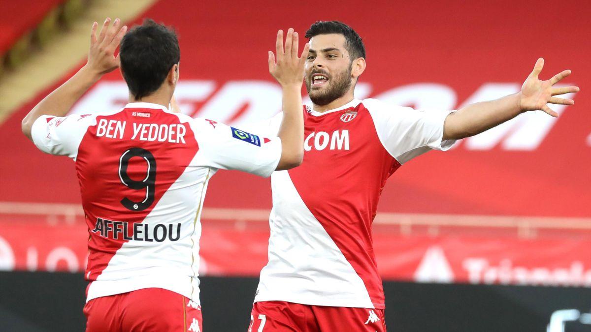 Wissam Ben Yedder et Kevin Volland (Monaco)