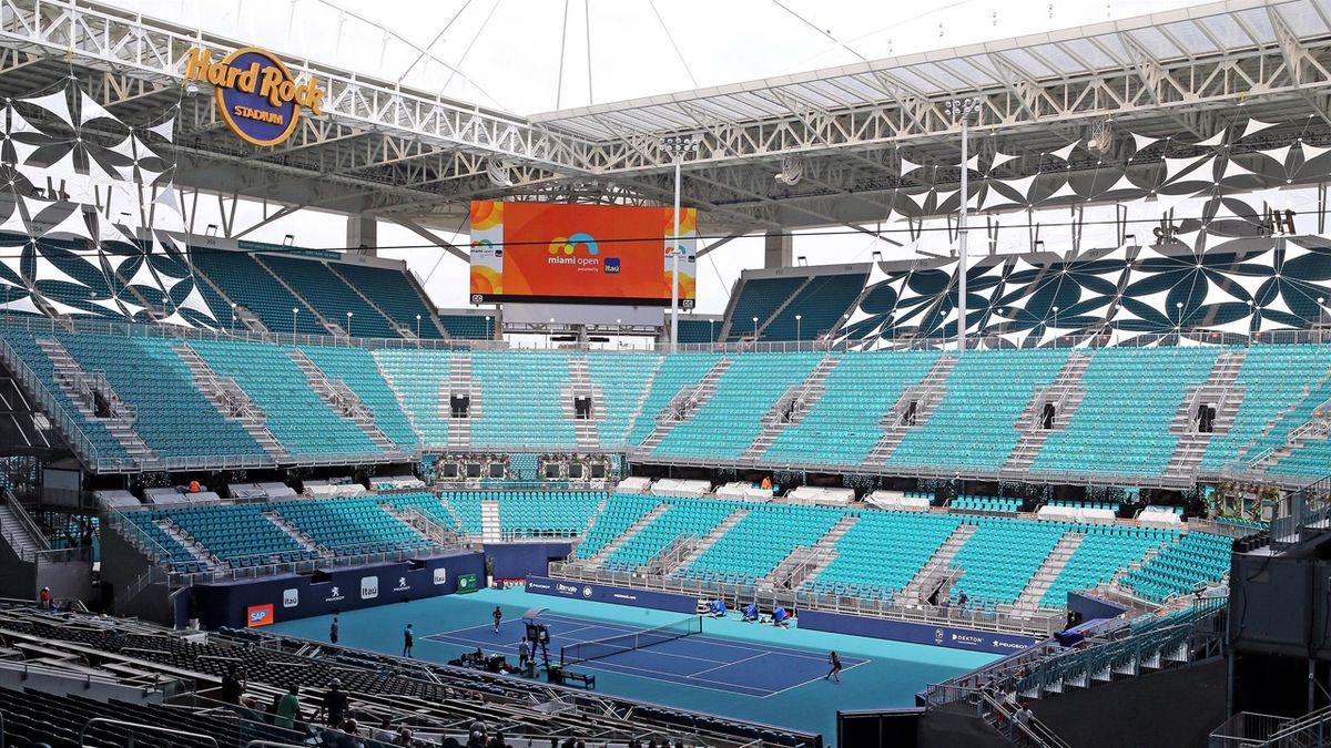 Le nouveau court central du Miami Open au HardRock Stadium