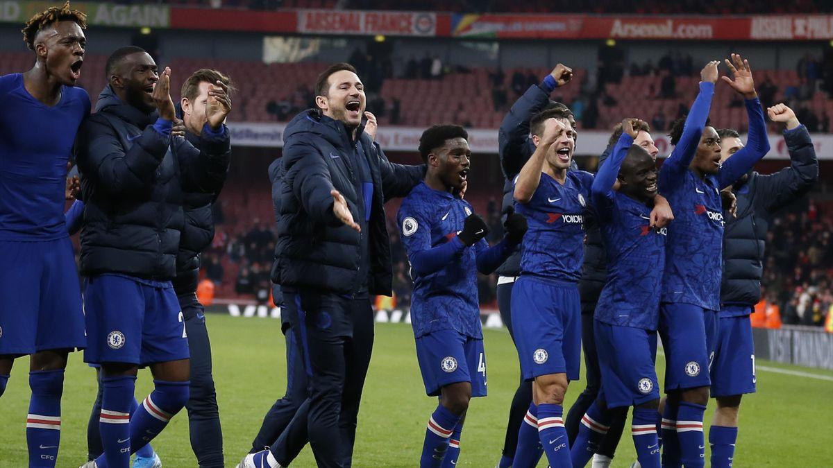 Frank Lampard et ses joueurs à Chelsea, 2020