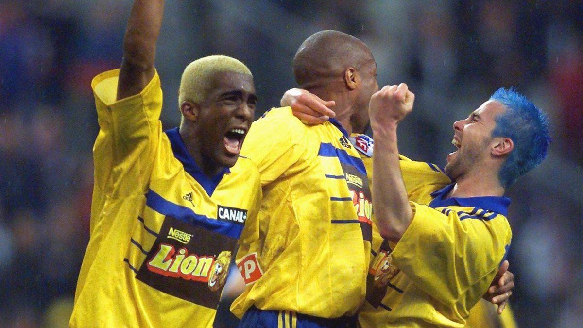 Sylvain Distin lors de la victoire de Gueugnon face au PSG
