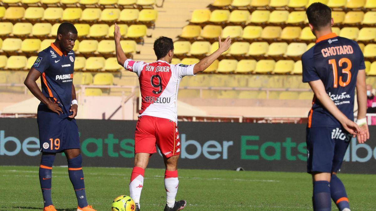 Wissam Ben Yedder lors de Monaco - Montpellier / Ligue 1