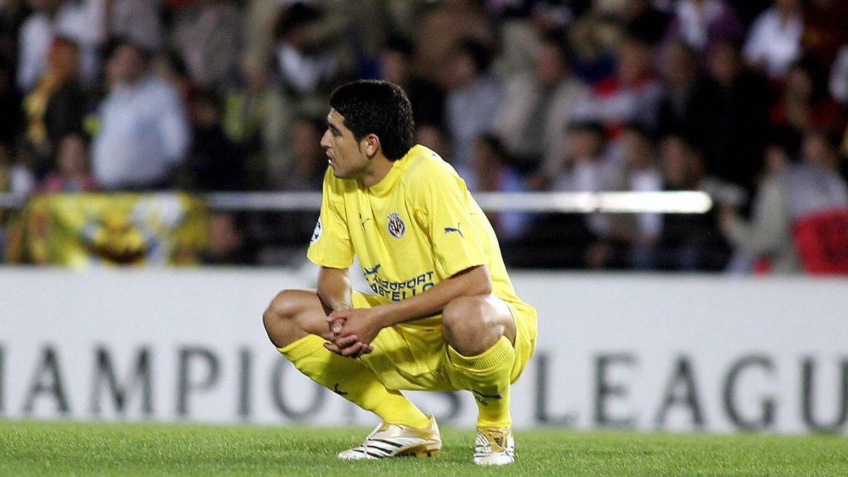 Juan Román Riquelme y el famoso penalti que falló con el Villarreal en semifinales de Champions ante el Arsenal