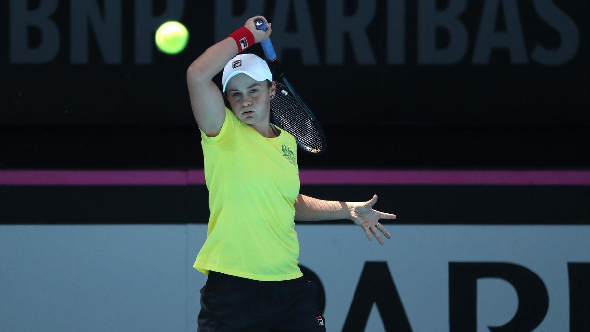 Ashleigh Barty à Perth pour la finale de la Fed Cup en 2019