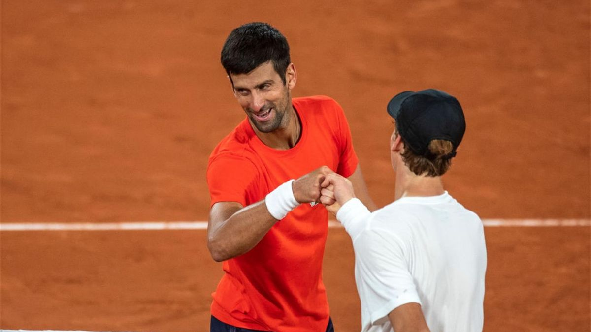 Novak Djokovic and Jannik Sinner