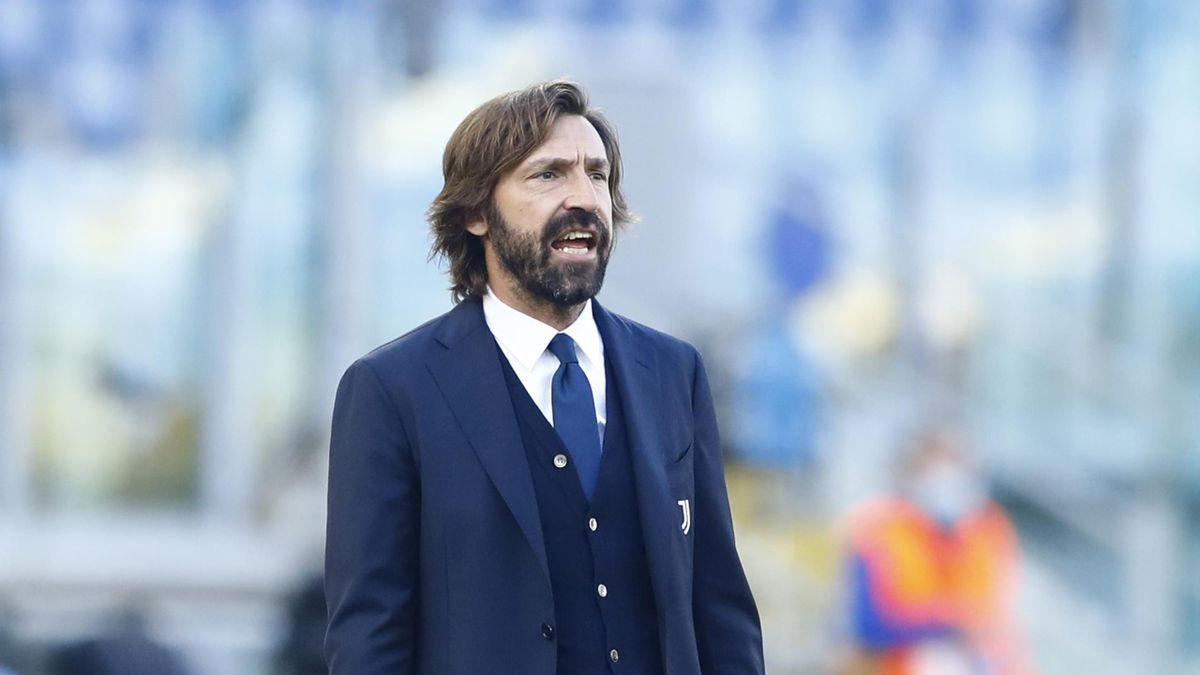 Andrea Pirlo urla durante Lazio-Juventus
