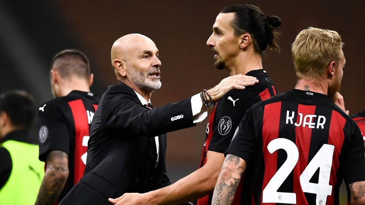 Pioli, Ibrahimovic - Milan-Torino - Serie A 2020/2021 - Getty Images