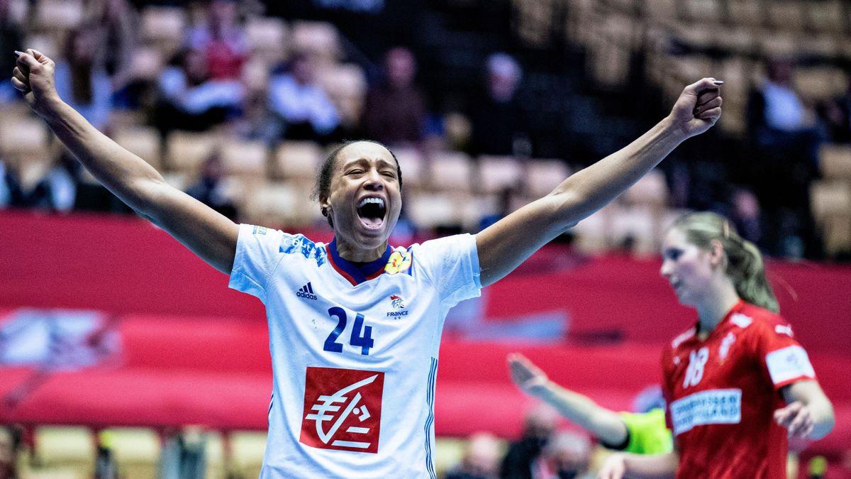 Béatrice Edwige lors de l'Euro 2020 de handball féminin