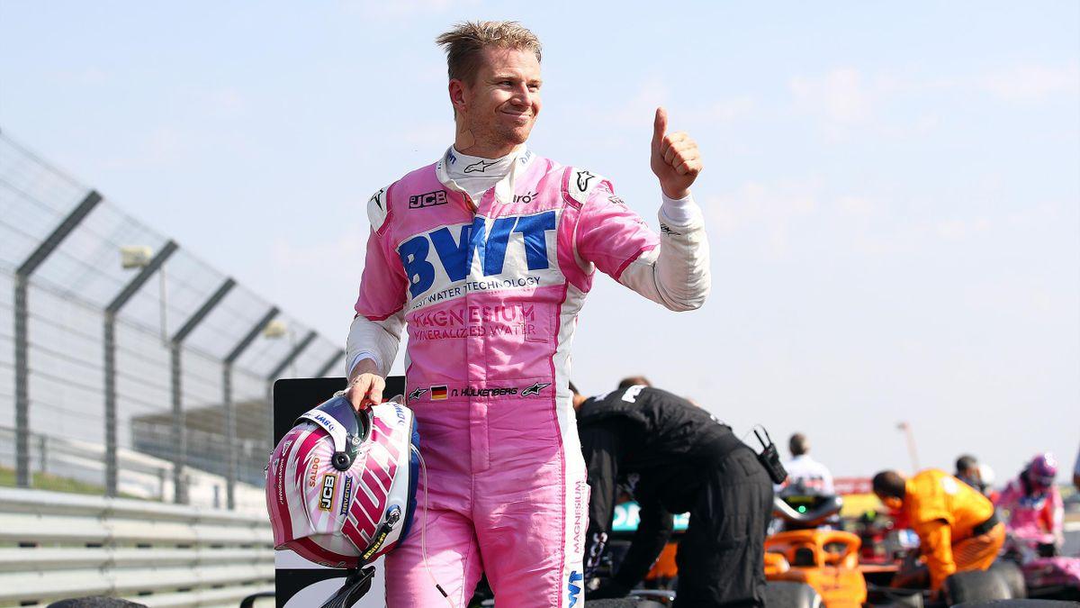 Nico Hülkenberg reckt den Daumen: Platz acht beim Großen Preis der Eifel ist ein ganz starkes Resultat