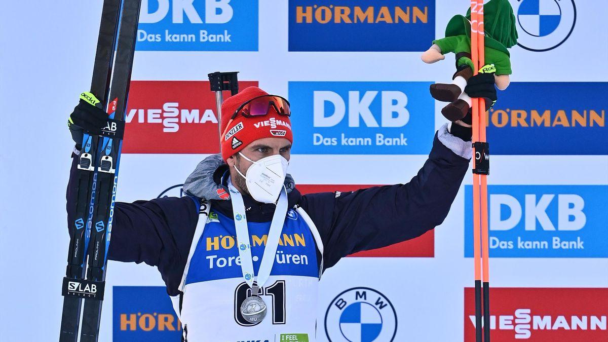 Arnd Peiffer bei der Biathlon-WM in Pokljuka