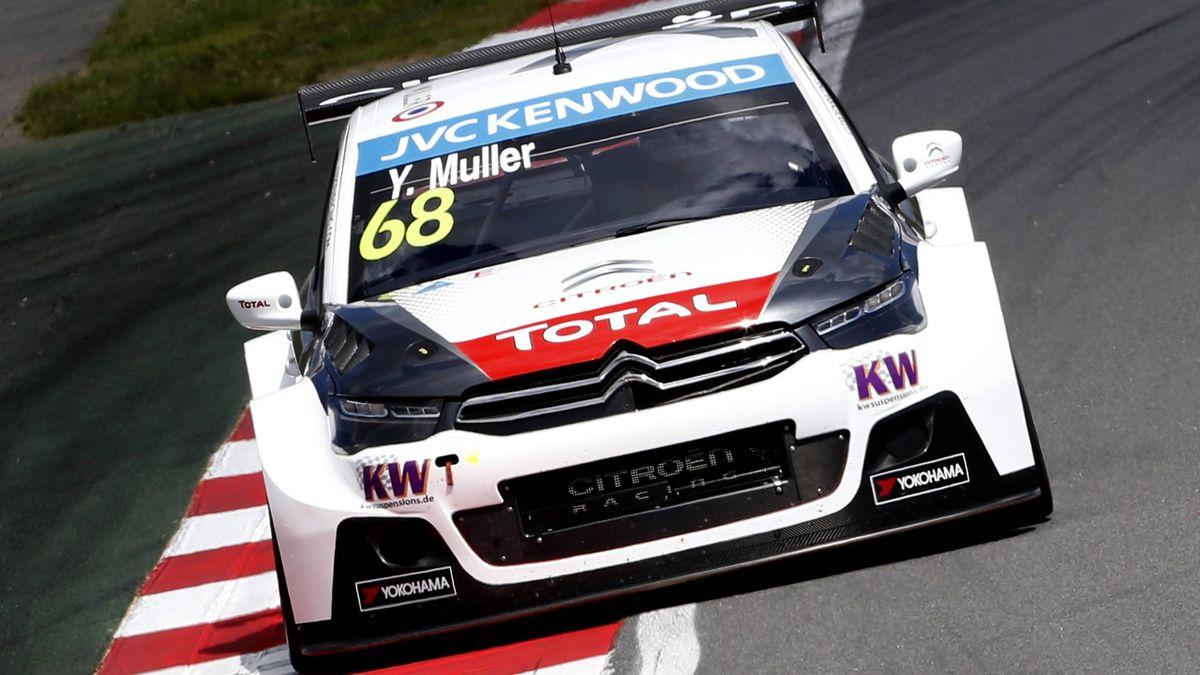 Yvan Muller gewann das erste WTCC-Rennen in Moskau