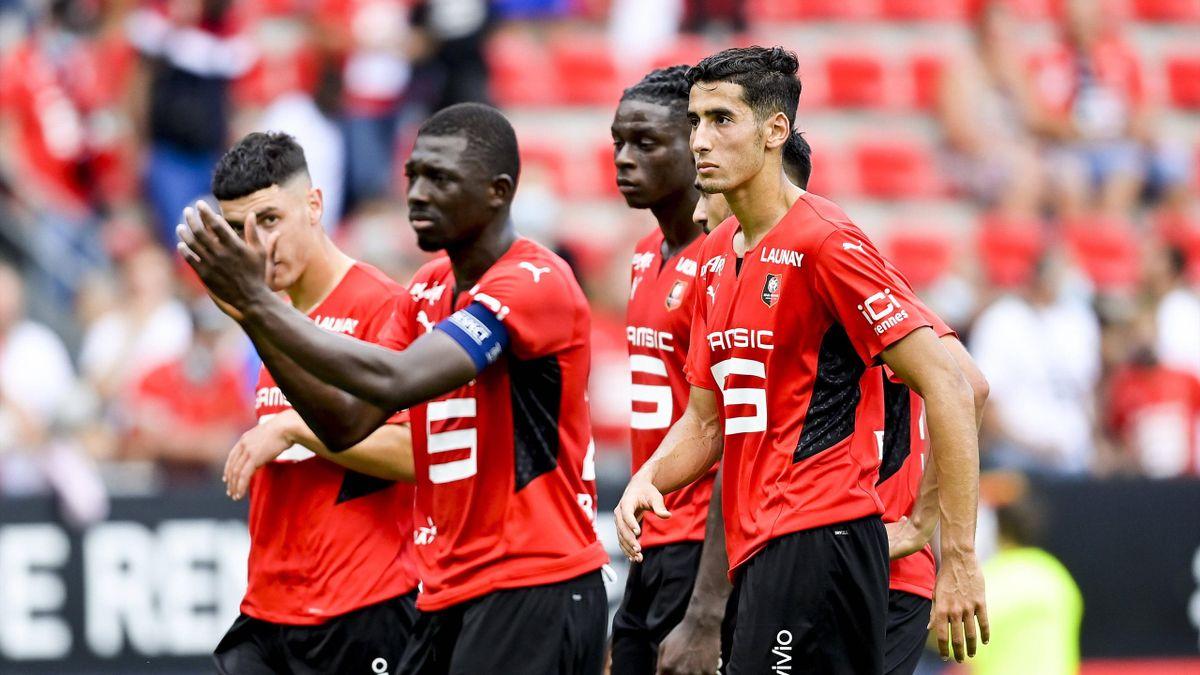 Décéption des joueurs de Rennes Hamari Traore ou encore Nayef Aguerd
