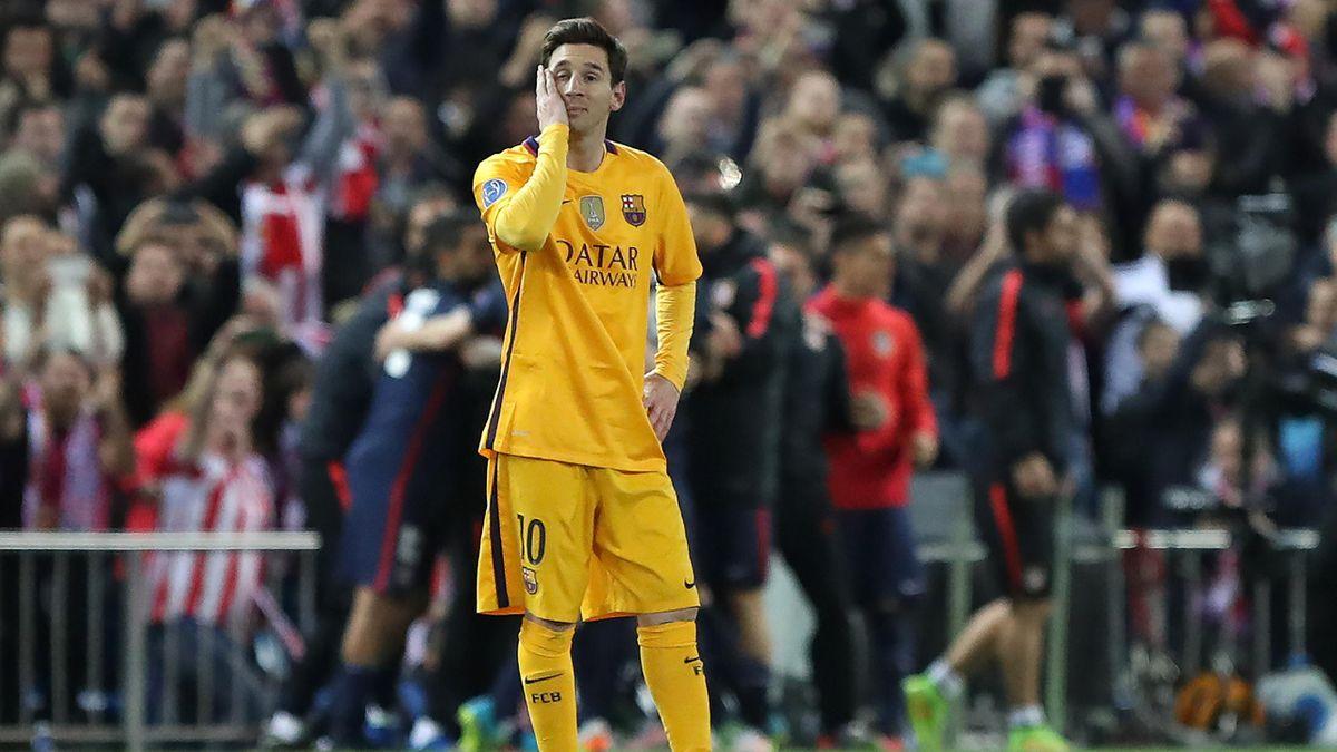 Lionel Messi after Barcelona's quarter-final defeat by Atlético Madrid