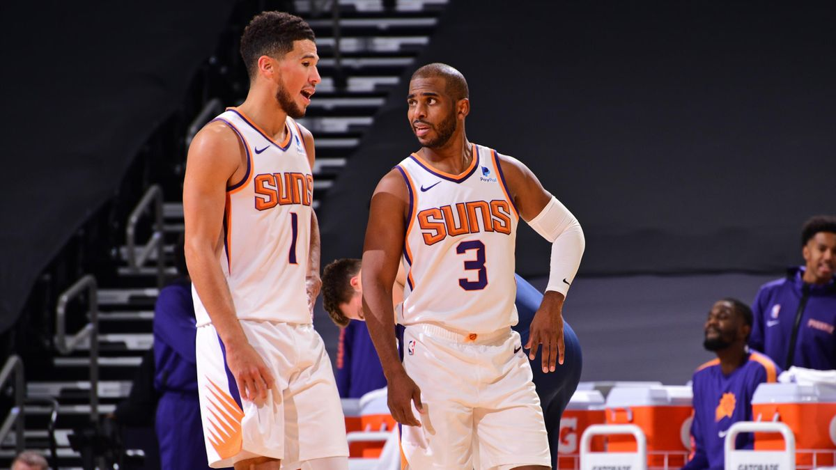 Devin Booker et Chris Paul