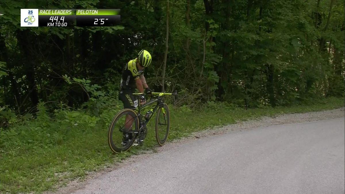 Tour of Slovenie : Caleb Ewan's fall
