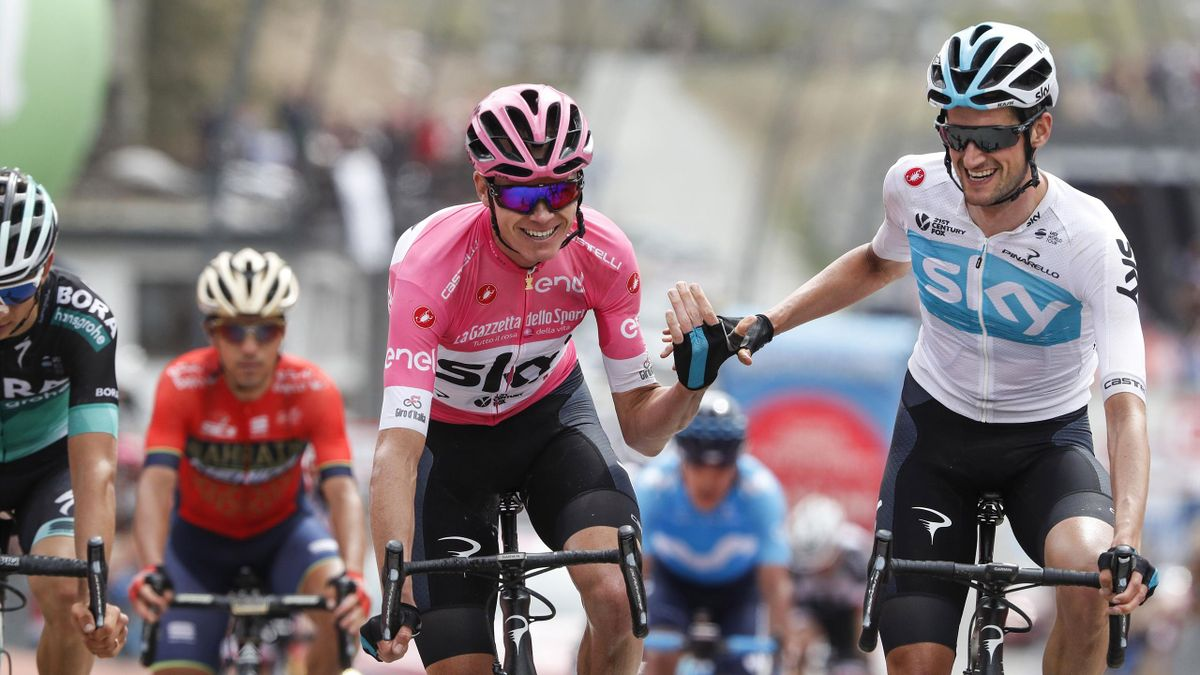 Chris Froome and Wout Poels, Giro 2018