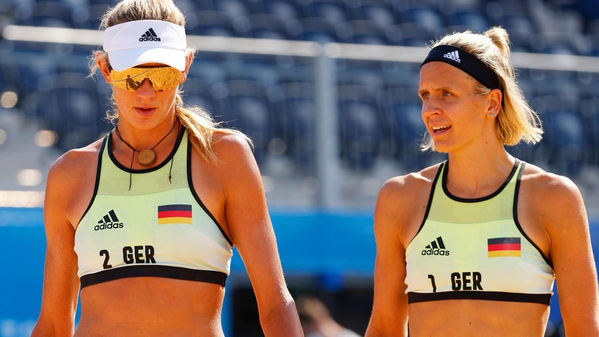 Auftaktniederlage für Laura Ludwig (re.) und ihre Partnerin Margareta Kozuch