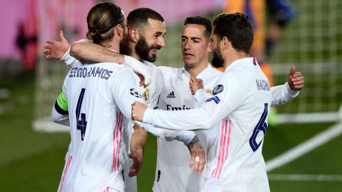 Real Madrid jubelt gegen Atalanta