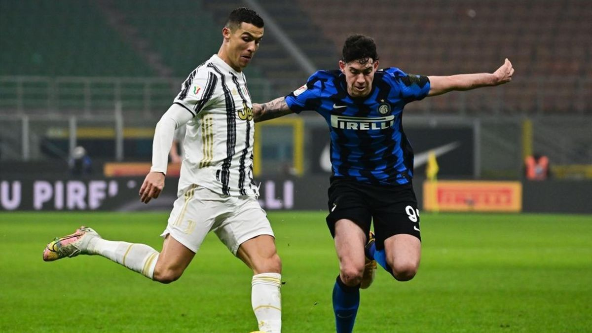 Cristiano Ronaldo, Bastoni - Inter-Juventus - Coppa Italia 2020/2021 - Getty Images