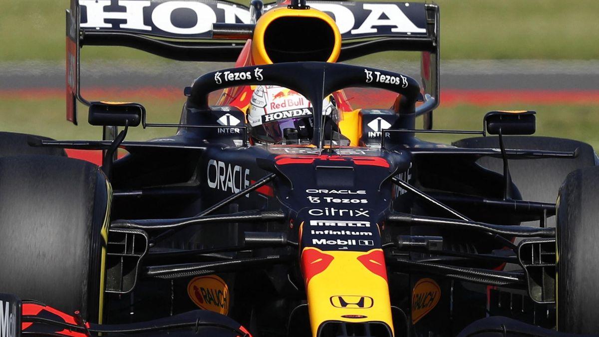 Max Verstappen im Red Bull in Silverstone
