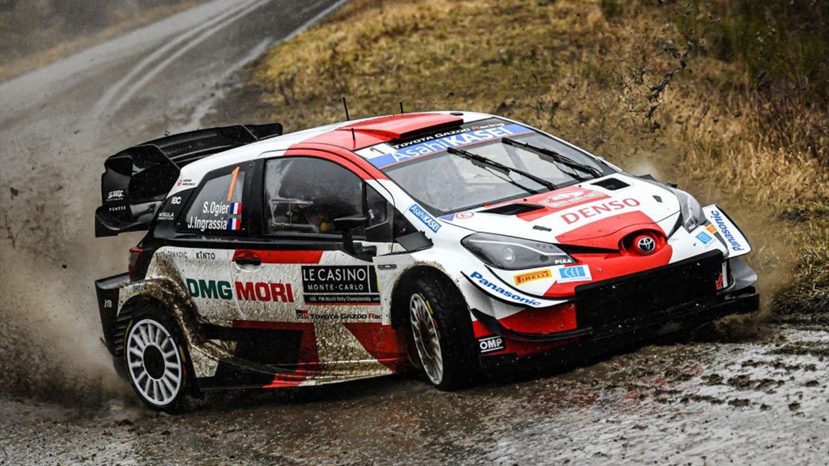 Sébastien Ogier lors du Rallye de Monte-Carlo
