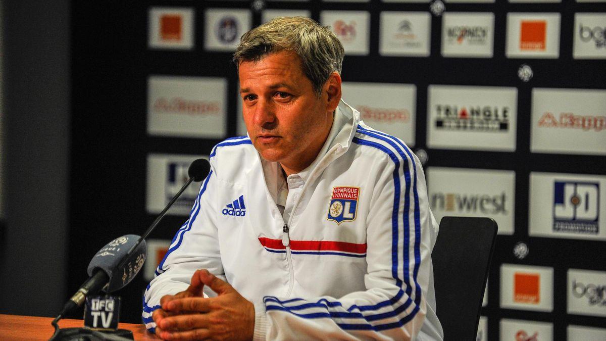 Bruno Génésio, nouvel entraîneur de l'OL, ici à Toulouse en 2014