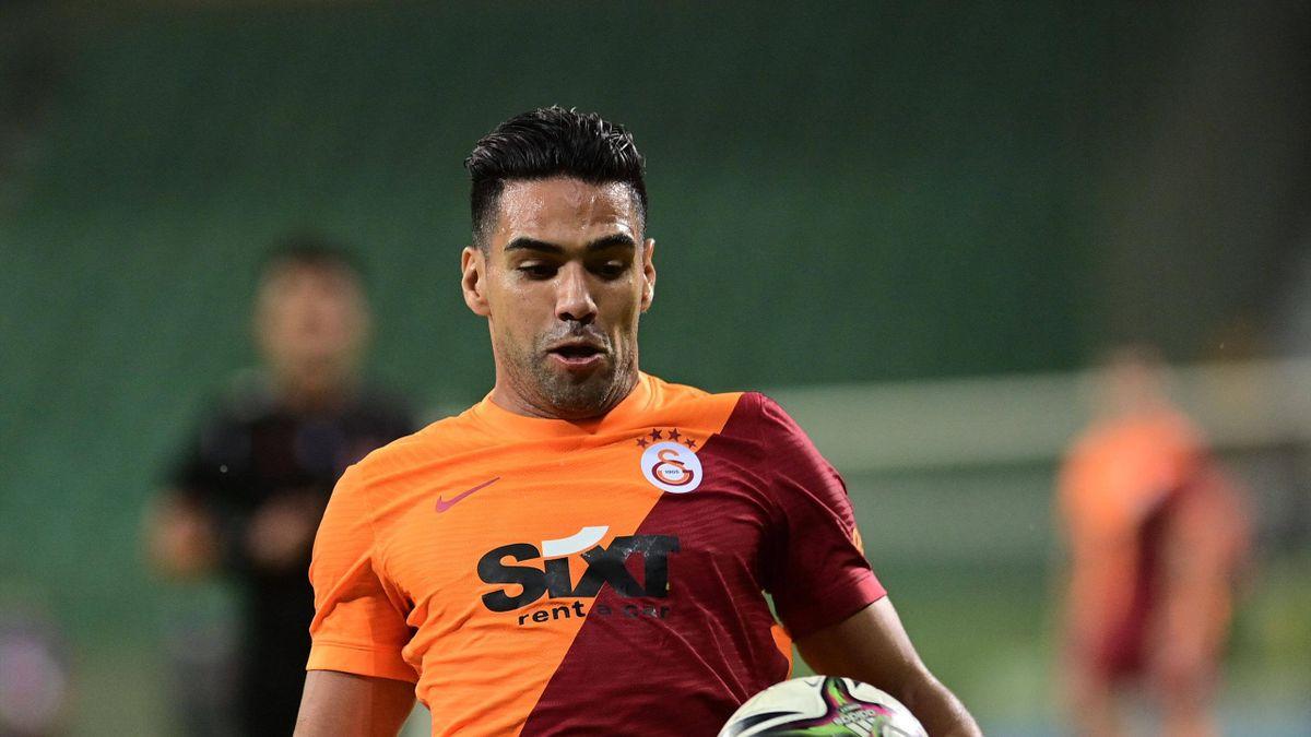 Radamel Falcao, l'attaquant de Galatasaray, en barrages de Ligue Europa
