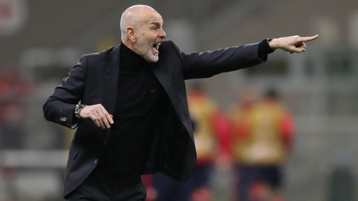 Stefano Pioli - Milan-Stella Rossa - Europa League 2020-2021