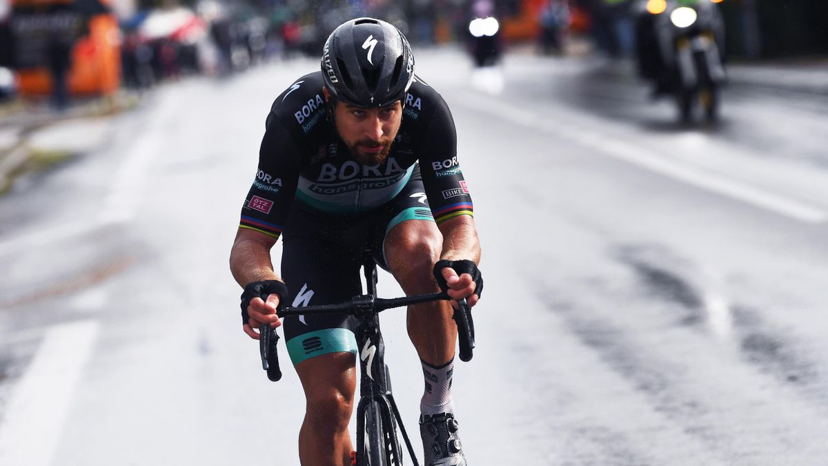 Peter Sagan of Slovakia and Team Bora - Hansgrohe / Breakaway / Rain / during the 103rd Giro d'Italia 2020, Stage 10 a 177km stage from Lanciano to Tortoreto