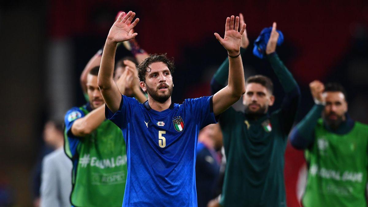 Manuel Locatelli al termine di Italia-Austria a Euro 2020 (Getty Images)