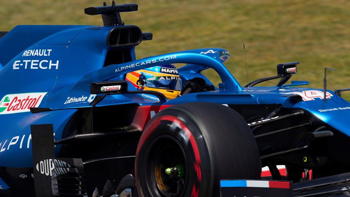 Fernando Alonso (Alpine), en el Gran Premio de España en Barcelona