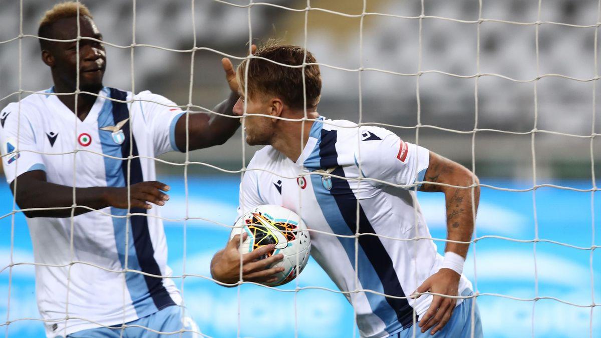 Caicedo, Immobile - Torino-Lazio - Serie A 2019/2020 - Getty Images