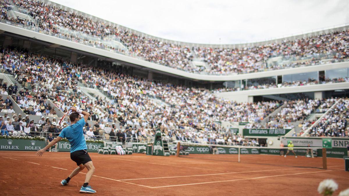 Le court central de Roland-Garros en 2019