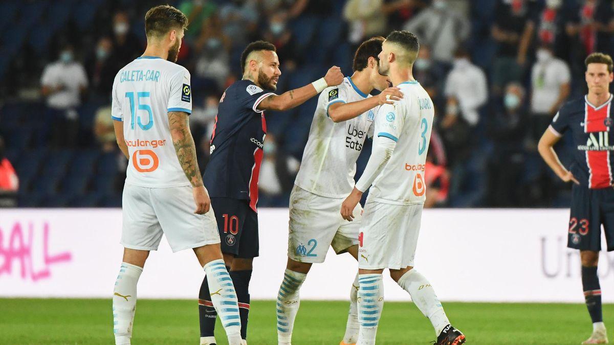 Neymar lors de son altercation avec Alvaro Gonzalez